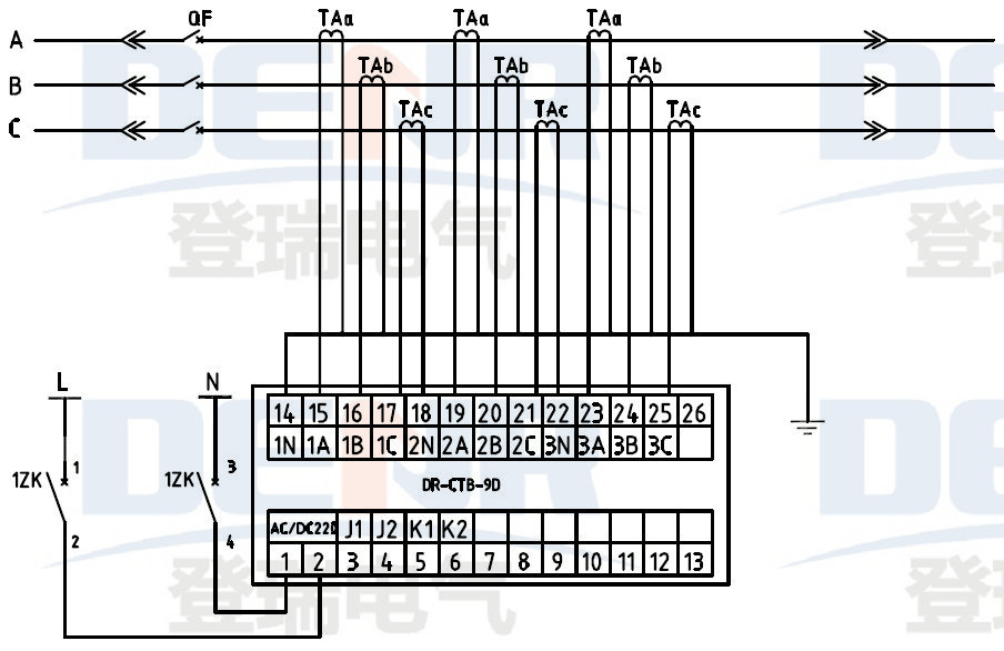 jlc 9s current transformer secondary over voltage protector transformer secondary overvoltage protection device wiring diagram jlc 9s电流互感器二次过电压保护器接线图